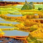 16 Dallol, a volcanic crater in Ethiopia