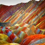24 Rock formations at the Zhangye Danxia Landform Geological Park in Gansu Province, China