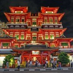 Chinatown, Singapore - Buddha Tooth Relic Temple at Night - by Ryan Custodio-Flickr