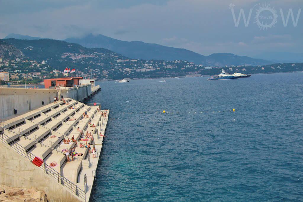 Monaco, Monte Carlo - Concrete Beach - by WOW Travel