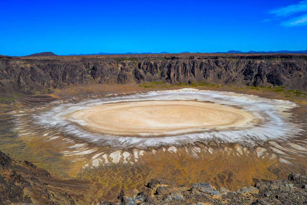 The Al Wahbah crater is a volcanic crater, which is about 250 kilometers away from Taif, Saudi Arabia