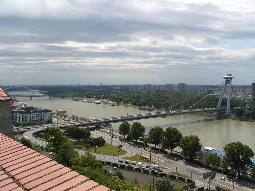 UFO Bridge, Bratislava - by Charlie - Fearless Fred:Flickr