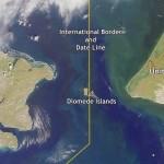 Diomede islands border - USA - Russia border - by amusingplanet.com