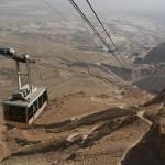 Masada Cableway, Israel - by K.Szajowski:Wikimedia