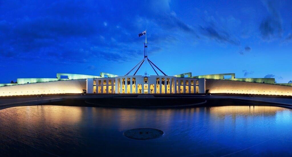 Parliament House, Canberra - by JJ Harrison:Wikimedia