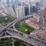 Puxi Viaduct, Shanghai - by Alex Needham:Wikimedia