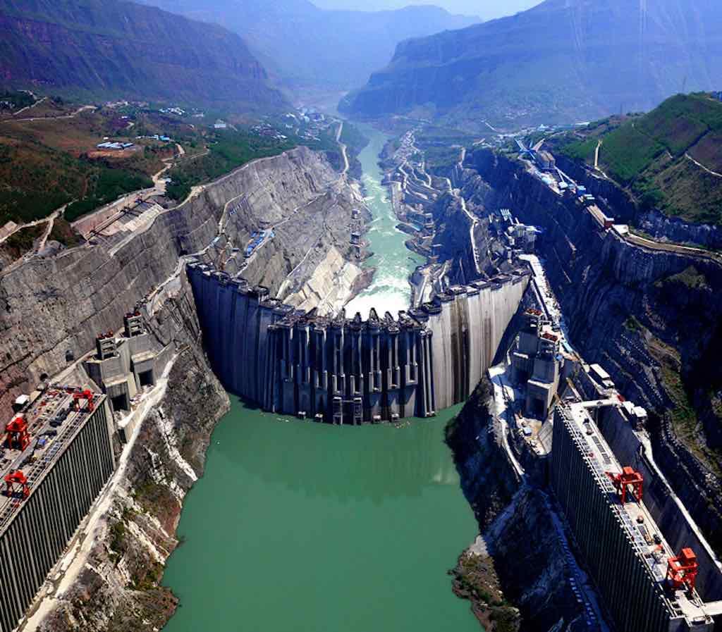 Xiluodu Dam, Jinsha Jiang River, China - by Sinohydro.com