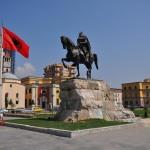 Skanderbeg Statue, Tirana - by Vinie007/Wikimedia