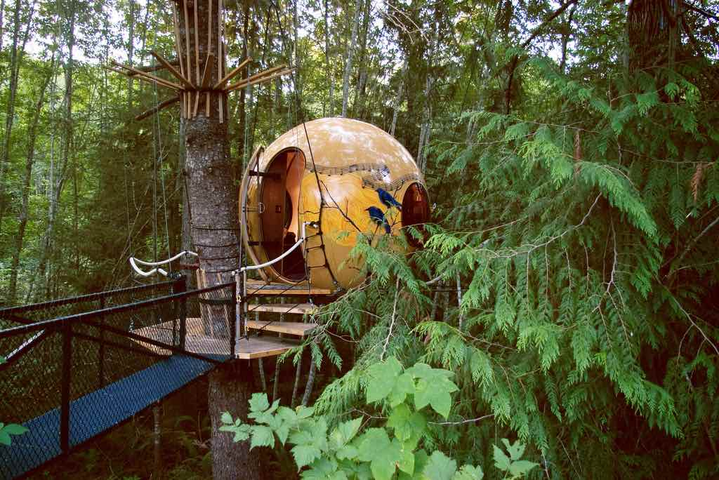 Free Spirit Spheres, Vancouver Island, Canada - by chillbay:Flickr