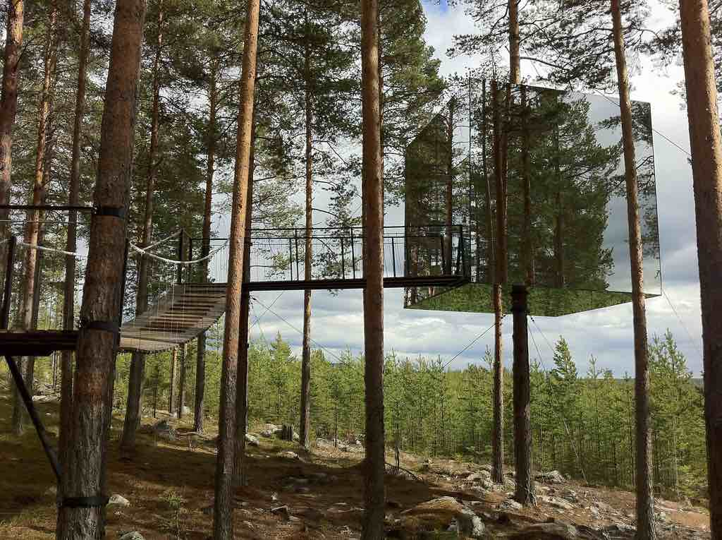 Treehotel, Harads, Sweden - The Mirrorcube - by Gitta Wilén :Flickr