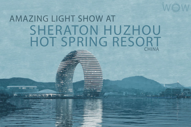 Amazing Light Show at Sheraton Huzhou Hot Spring Resort