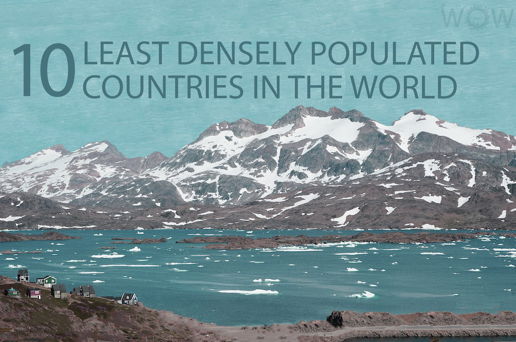 The 10 Least Densely Populated Countries In The World