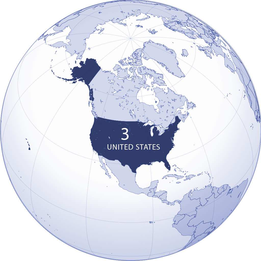 United States World Map - created using gringer's Perl script with Natural Earth Data - Addicted04/Wikimedia
