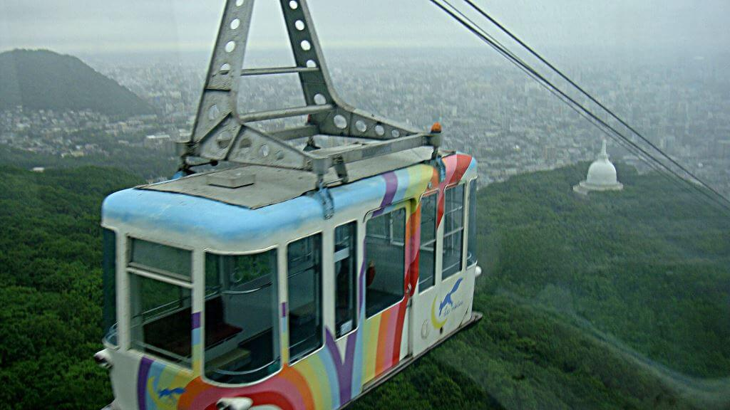 Mount Moiwa and the Aerial Ropeway, Sapporo, by David McKelvey flickr.com