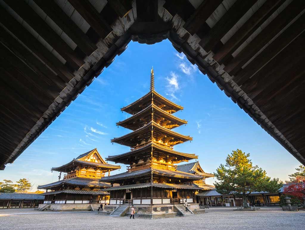 Horyu-ji Temple, Nara - By Luciano Mortula - LGM / Shutterstock.com