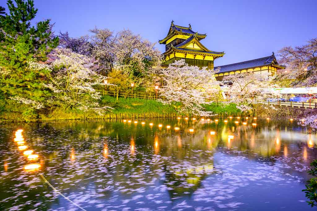 Nara, Japan at Koriyama Castle in the spring season - Shutterstock.com