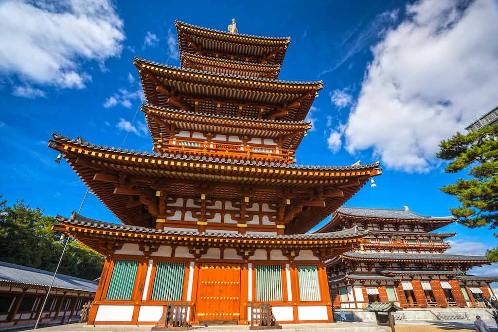 Yakushi-ji Temple in Nara - by By Luciano Mortula - LGM / Shutterstock.com