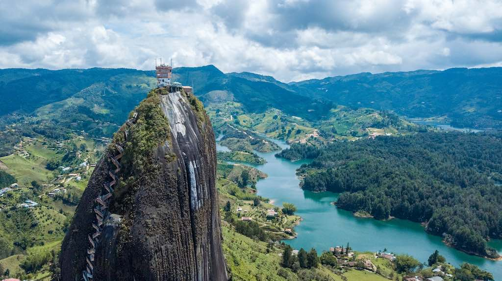 Aerial Shots of El Penol and Guatape - By hillsn_1992_shutterstock.com