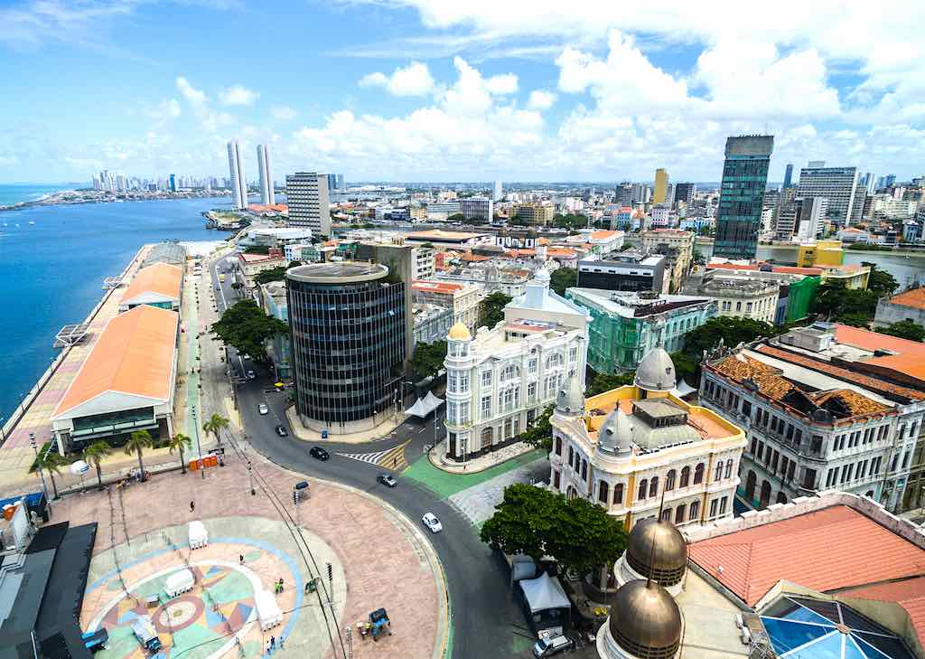 Aerial View of Marco Zero Square, Recife - By Gustavo Frazao / shutterstock.com