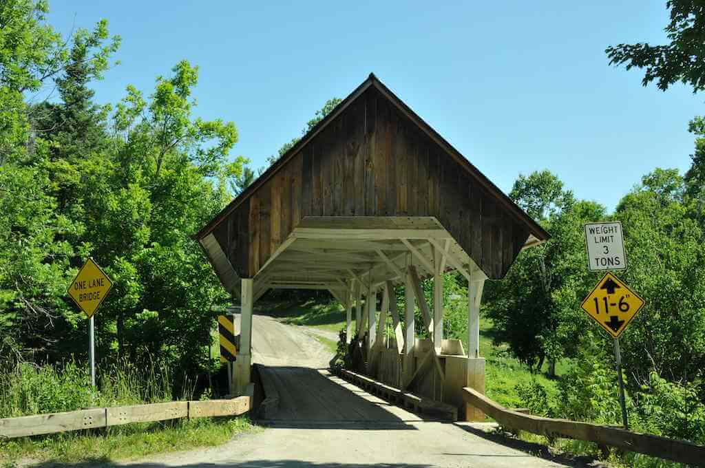 Greenbank's Hollow Covered bridge in Danville, Vermont -by Shutterstock.com