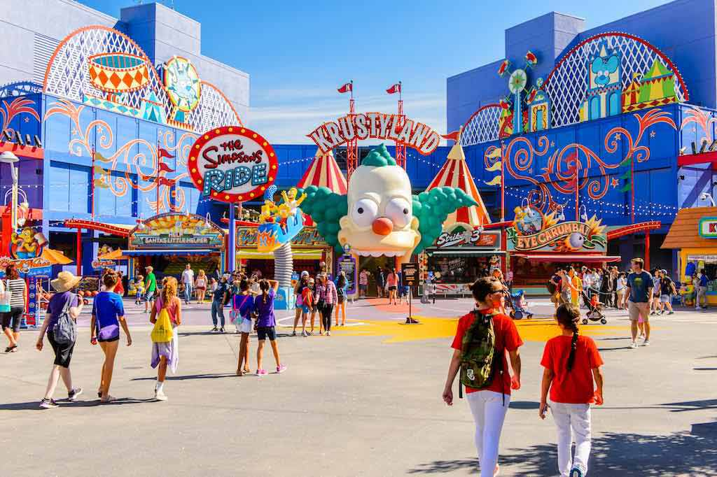 Krusty Land at The Simpsons area of Universal Studios Hollywood Park, Los Angeles - By Anton Ivanov / Shutterstock.com