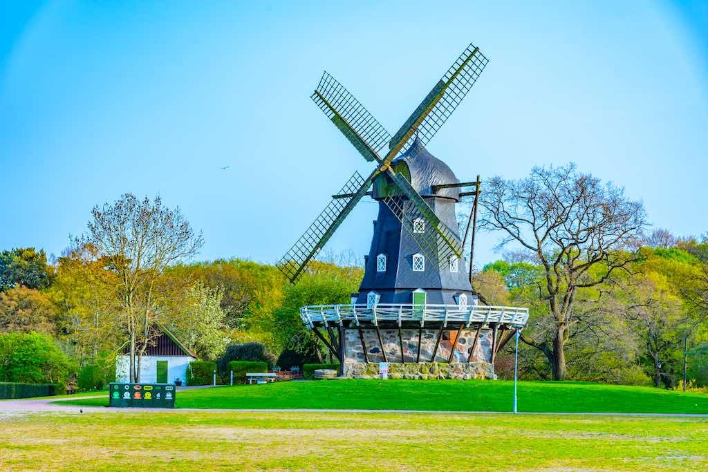 Medieval wind mill near Malmo Castle in Sweden