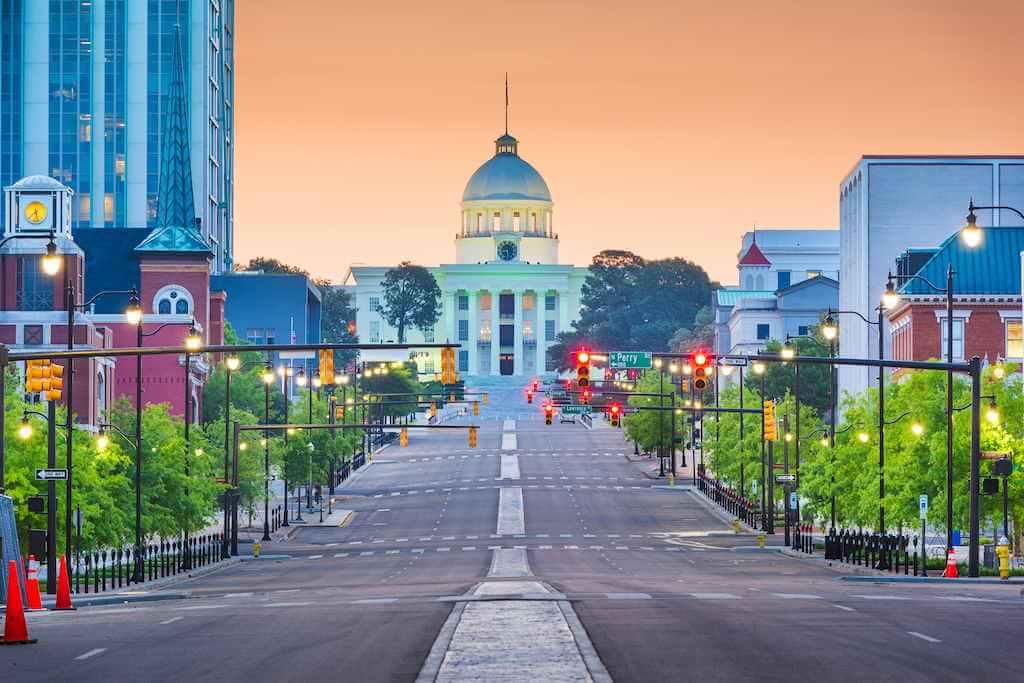 Montgomery, State Capitol, Alabama, USA -by Shutterstock.com