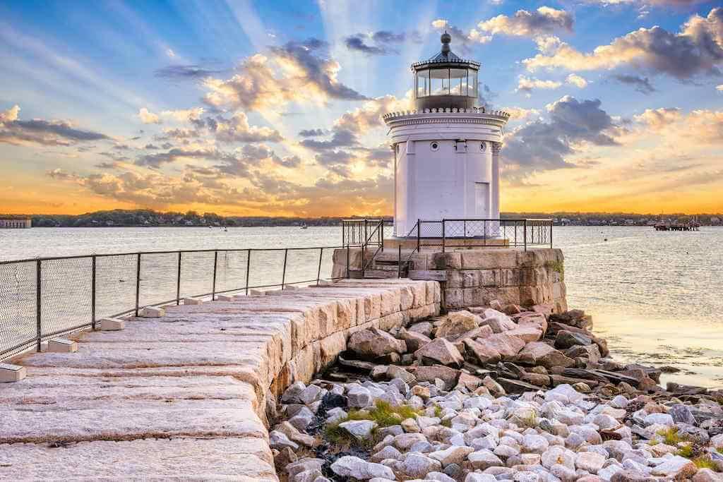 Portland Breakwater Light, Portland Maine, USA -by Shutterstock.com