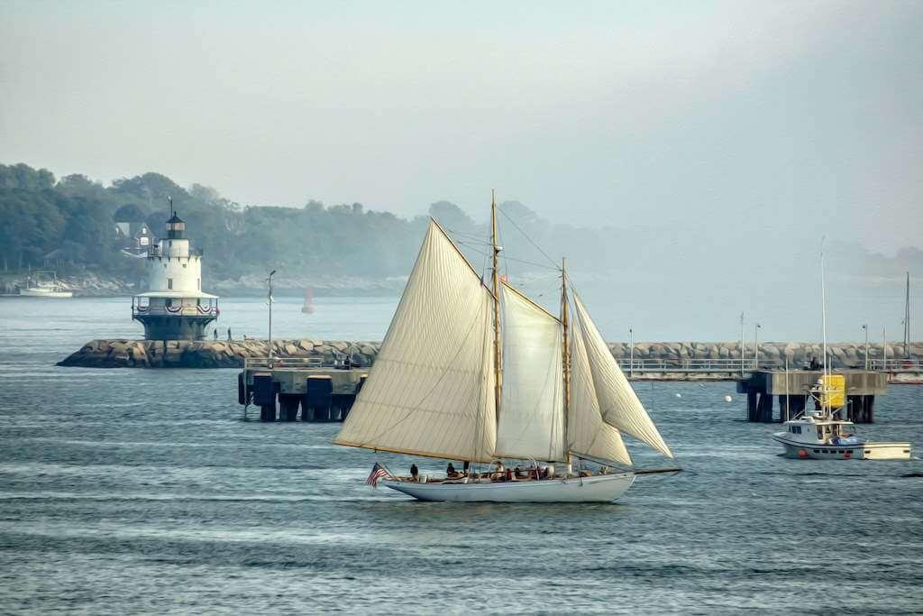 Portland Schooner Company, Portland Maine,USA -by Shutterstock.com