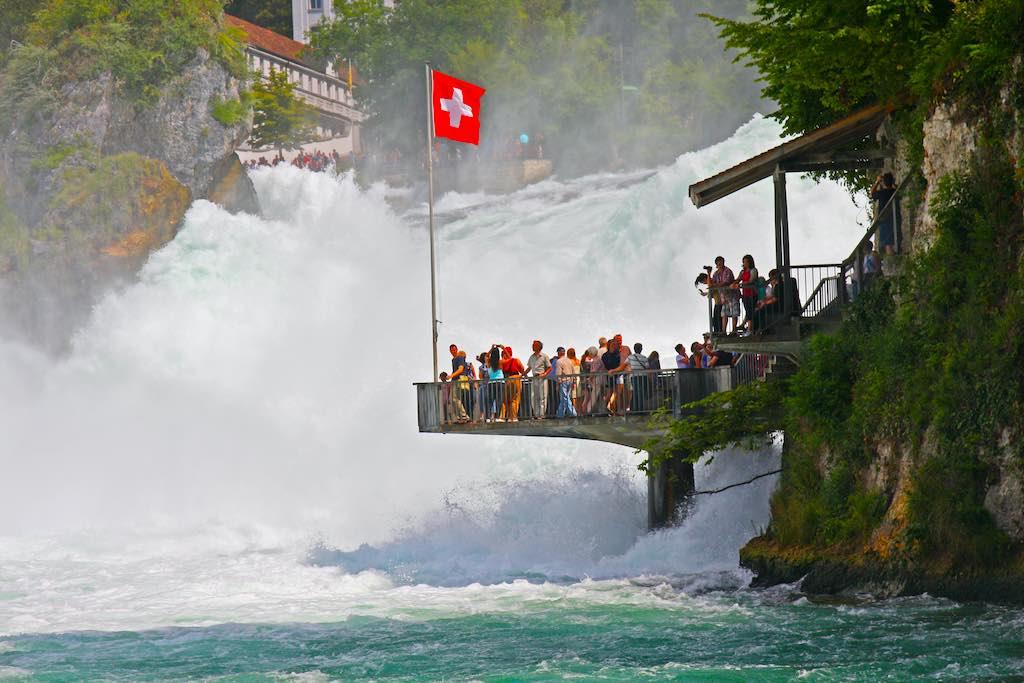 Rhine Falls, Switzerland - by Dan-Breckwoldt/Shutterstock.com