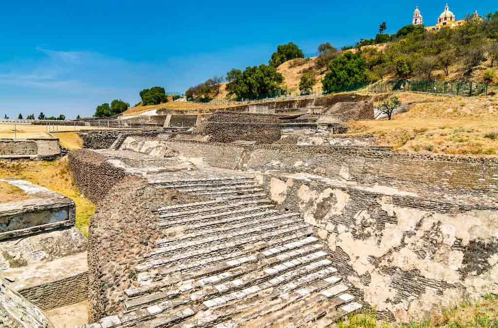 Ruins Of The Great Pyramid Of Cholula, Mexico / Shutterstock.com