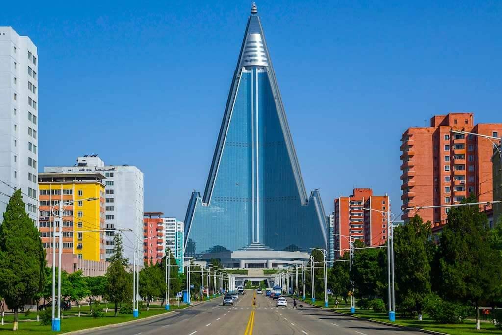 Ryugyong Hotel, Pyongyang, North Korea - by Torsten Pursche / Shutterstock.com