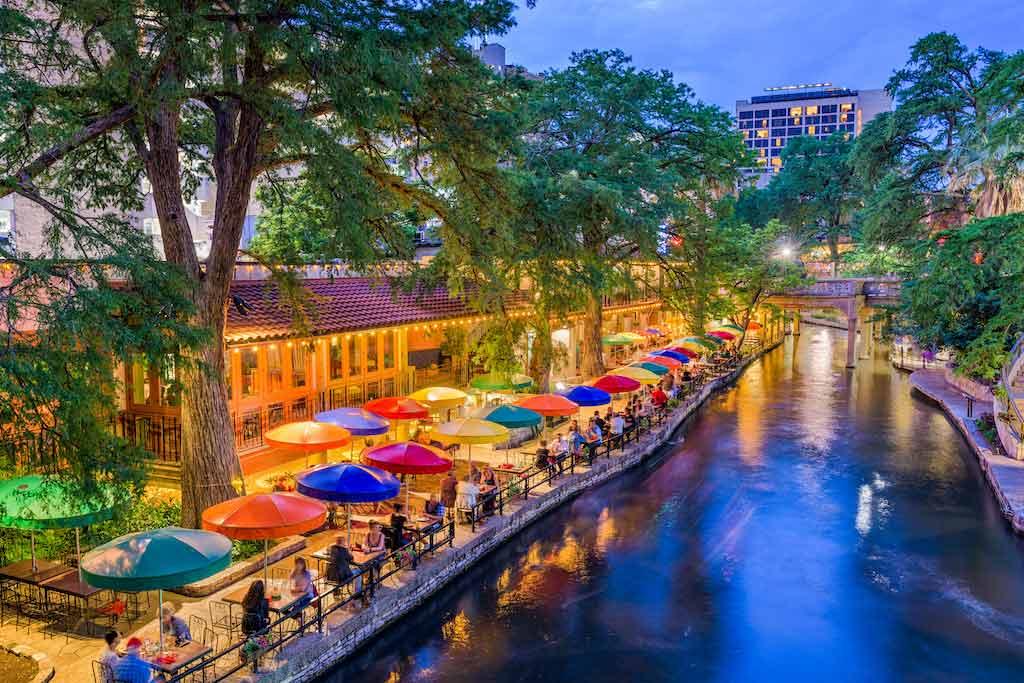 San Antonio, Texas, USA Cityscape At The River Walk