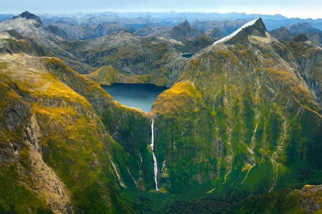 Sutherland Waterfall, New Zealand by Piu_Piu/Shutterstock