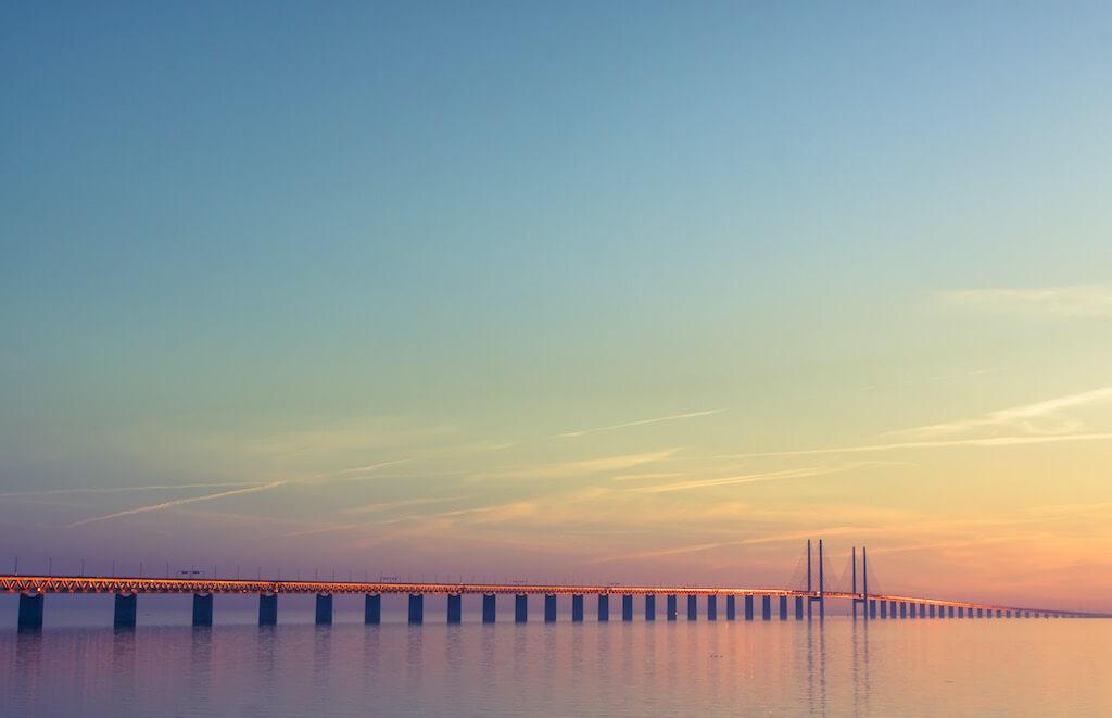 The Oresund bridge, Malmo, Sweden