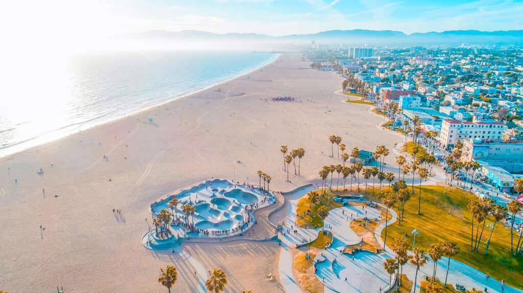 Venice Beach, Los Angeles, an attraction in the USA for tourists