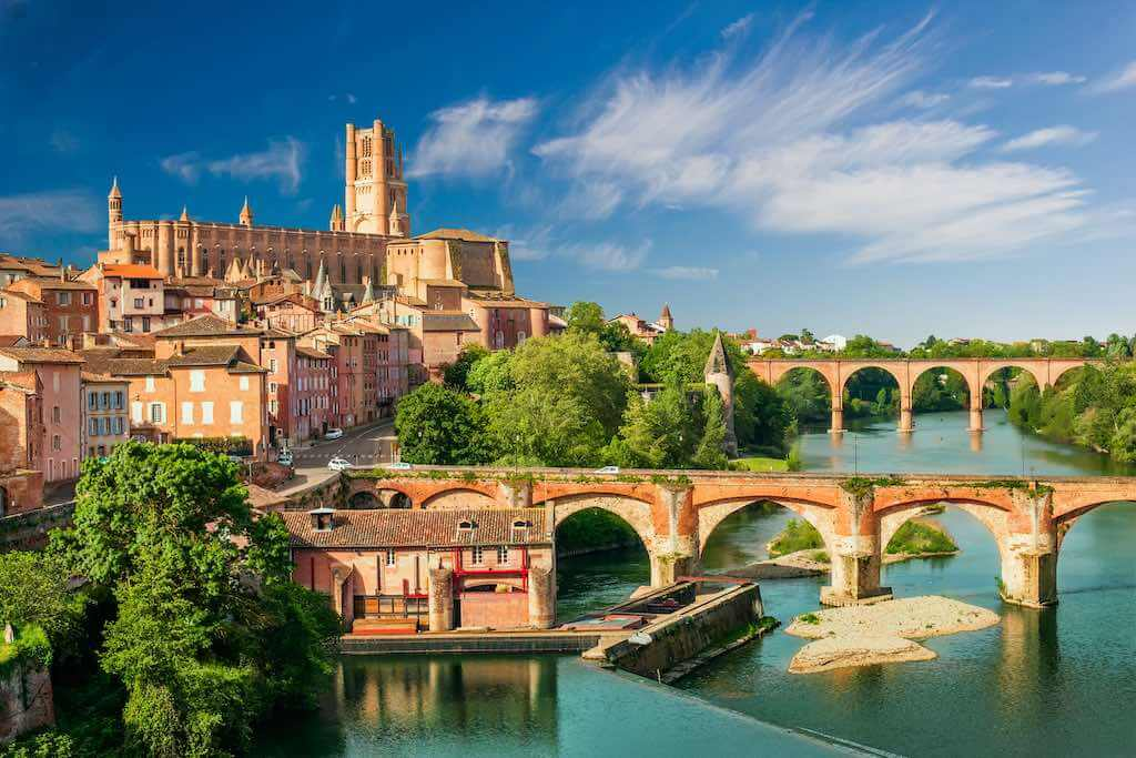 View at Cathedral of Saint Cecilia of Albi, France - By Elle-aimes-skier_shutterstock.com