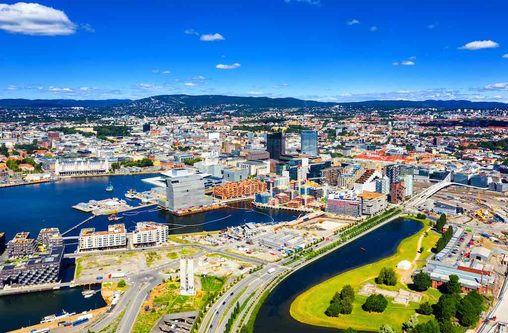 Aerial View of Oslo, Norway