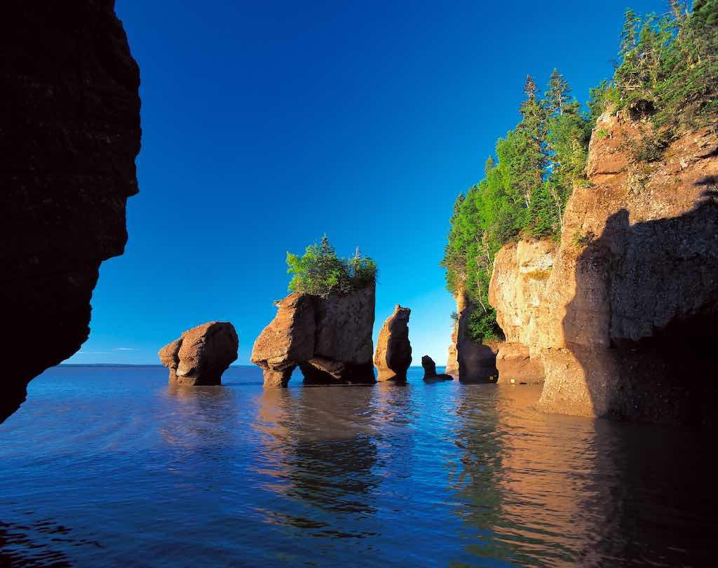 Bay of Fundy, Hopewell Rocks, New Brunswick, Canada