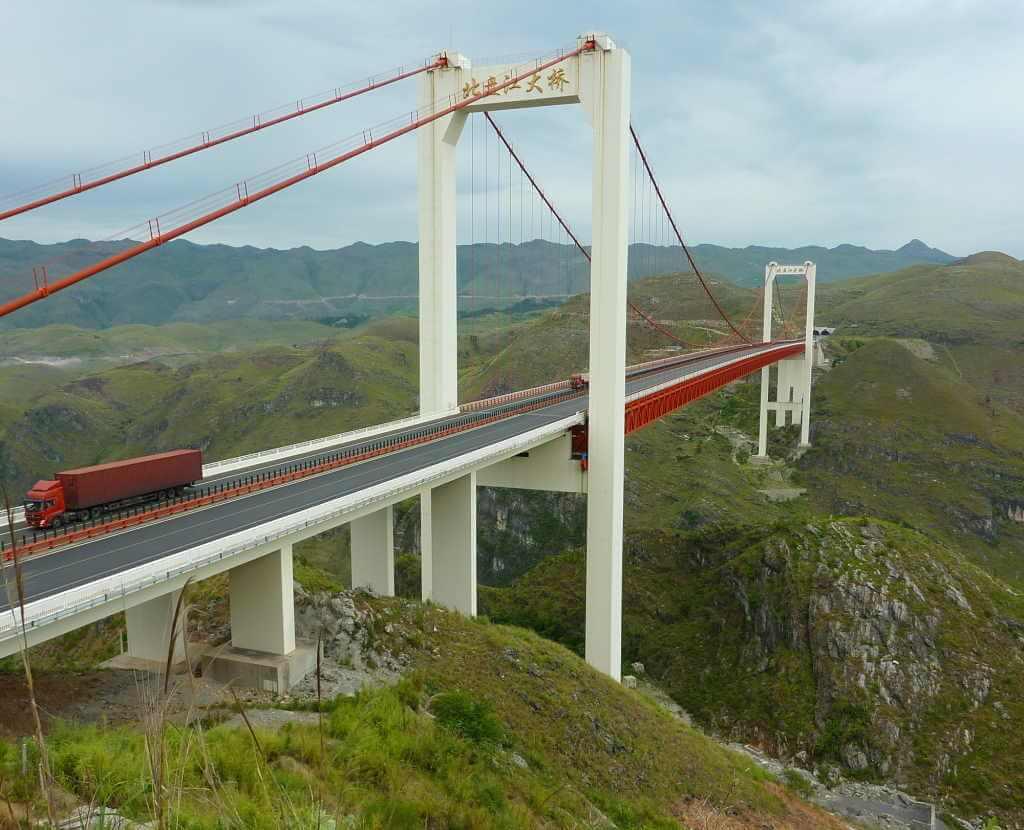 Beipan River Bridge, China - by Glabb / Wikipedia