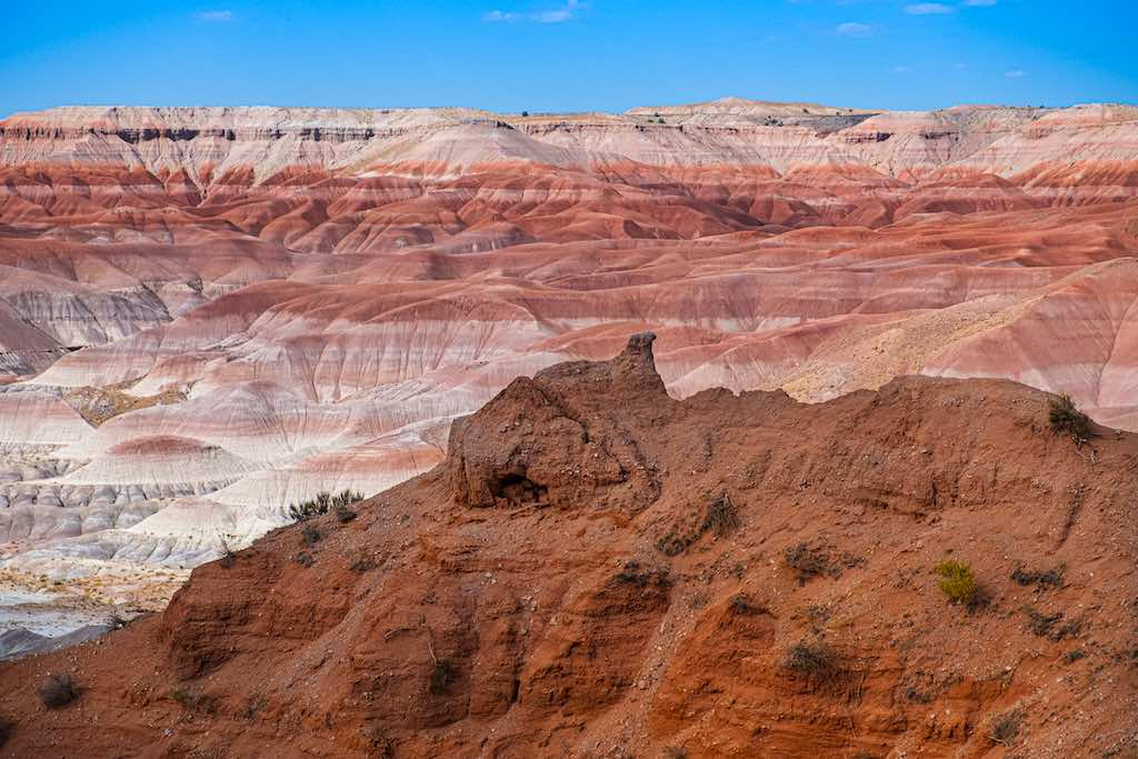 Colors and Formations at the Little Painted Desert, Winslow, Arizona