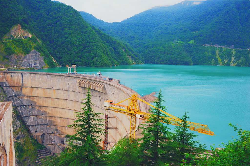 Dam of Enguri in Georgia