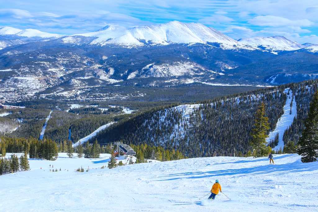 Downhill skier in Breckenridge, Colorado