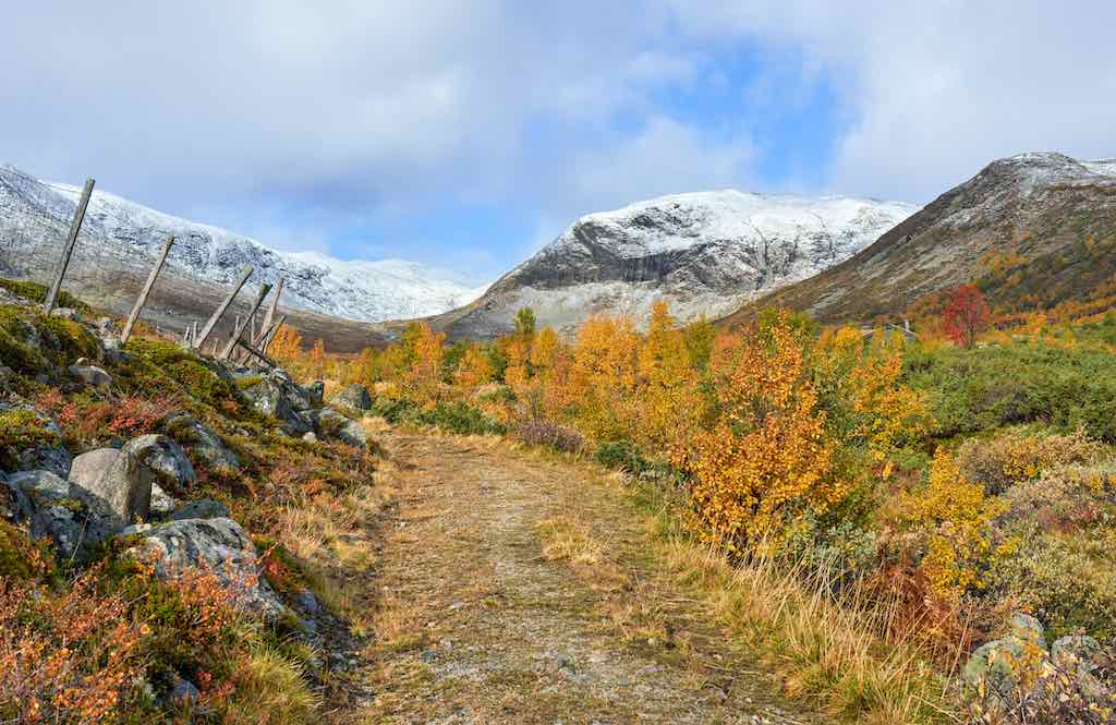 Bulidalen Mountain Area in the Fall, Norway