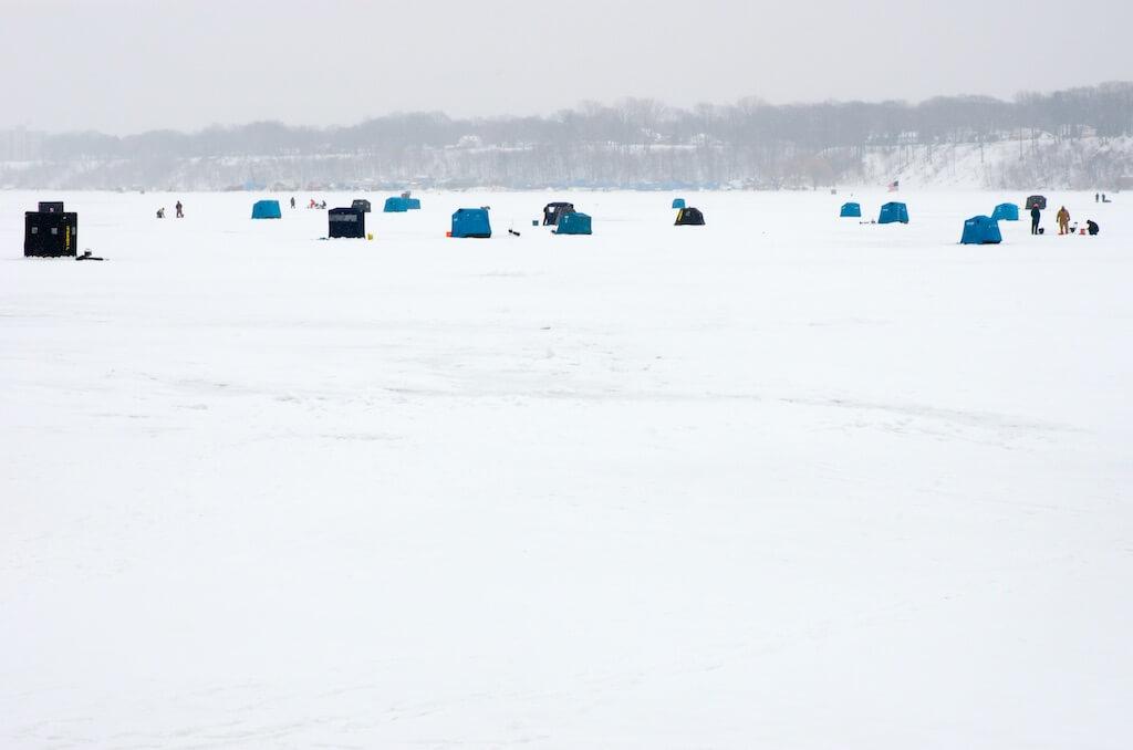 Fishing in Lake Erie, Ohio