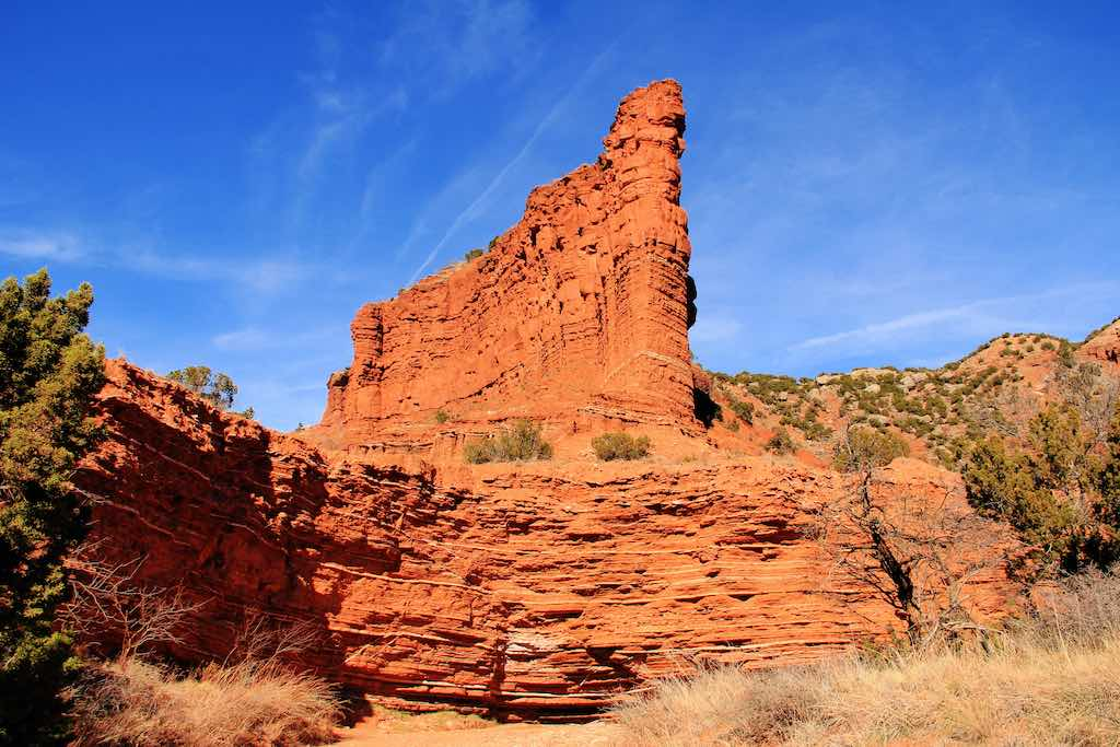 Rock formation at Caprock Canyon State Park, Texas