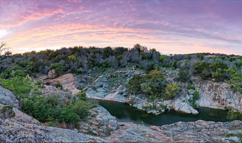 Spring Creek And Devil's Waterhole, Inks Lake State Park, Texas