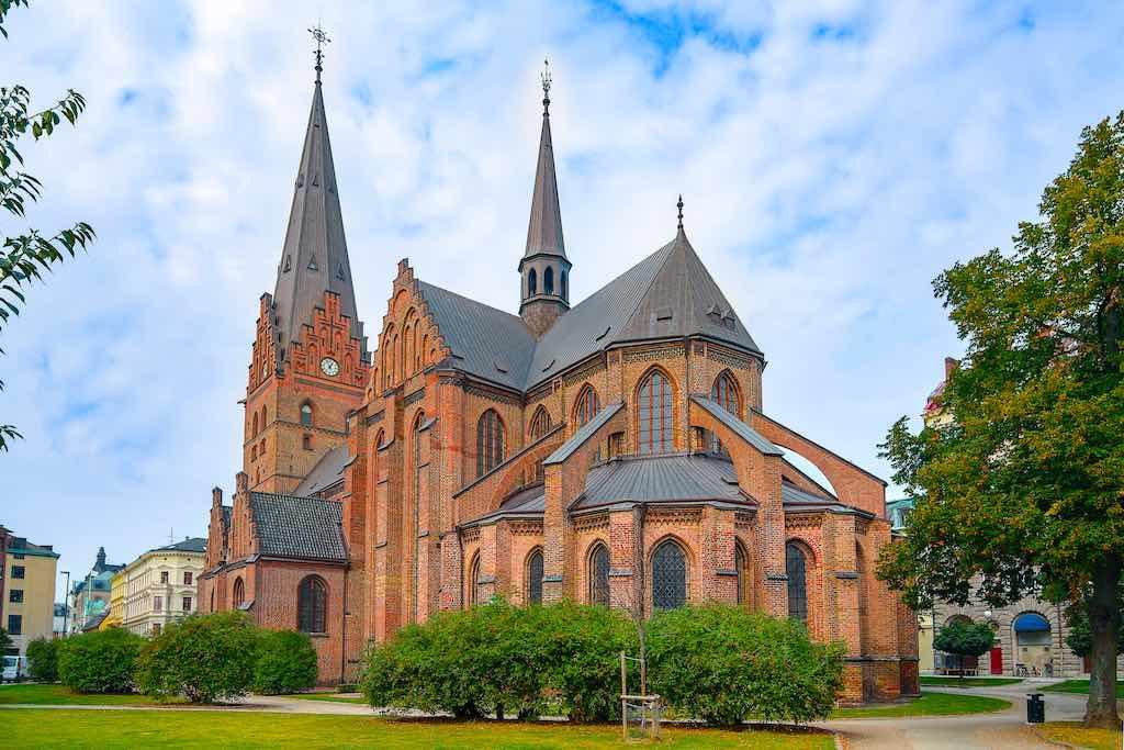 St. Peter's Church (Sankt Petri kyrka). Oldest church in Malmo, Sweden