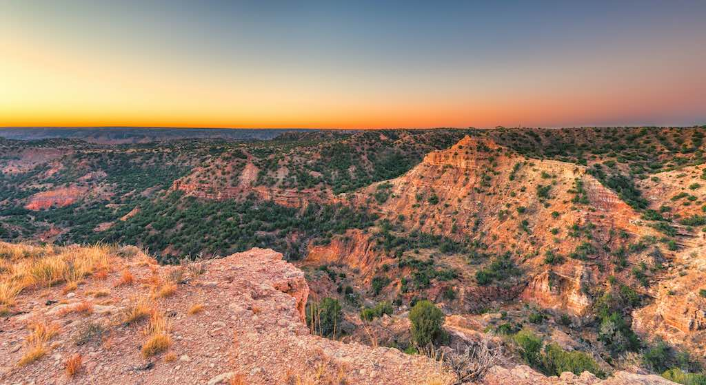 Sunrise at Palo Duro Canyon State Parks, Texas