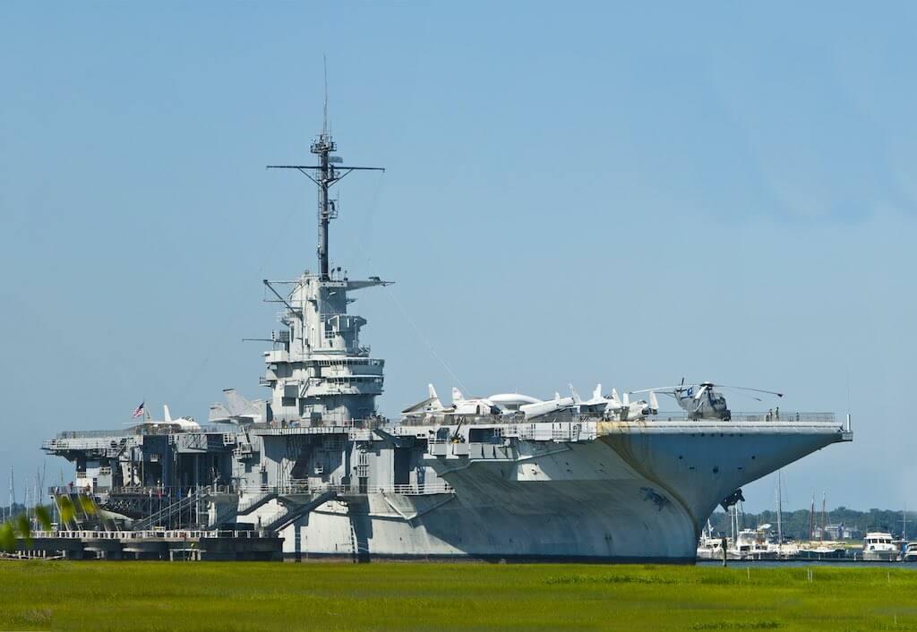 The Yorktown Museum at Patriots Point in Charleston Harbor South Carolina.